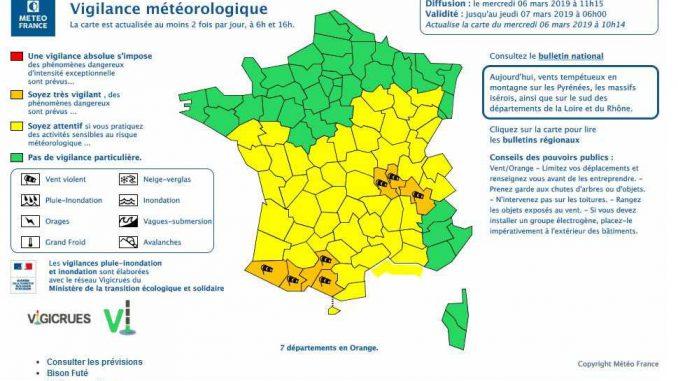 Ariège, Haute Garonne et Hautes Pyrénées en alerte météo vigilance orange