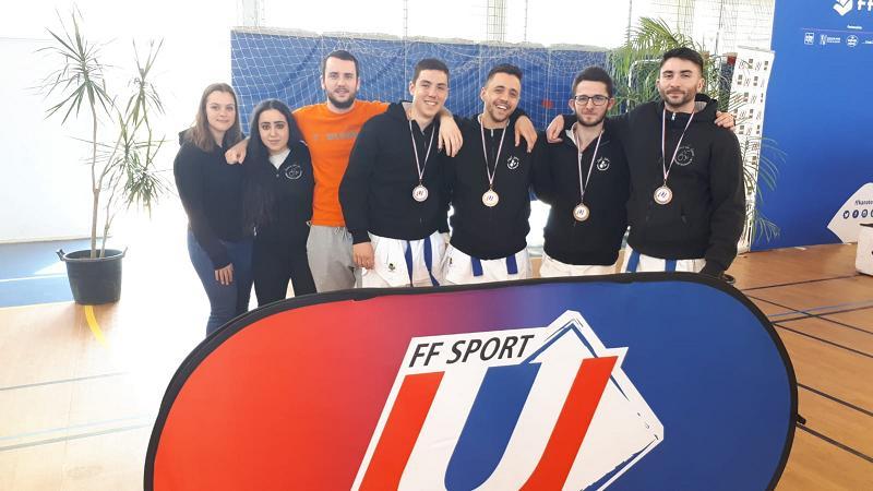 L'université de Toulouse championne de France universitaire de Karaté