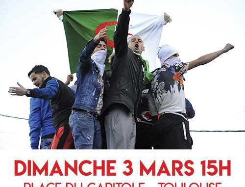 Rassemblement pour l'Algérie dimanche à Toulouse