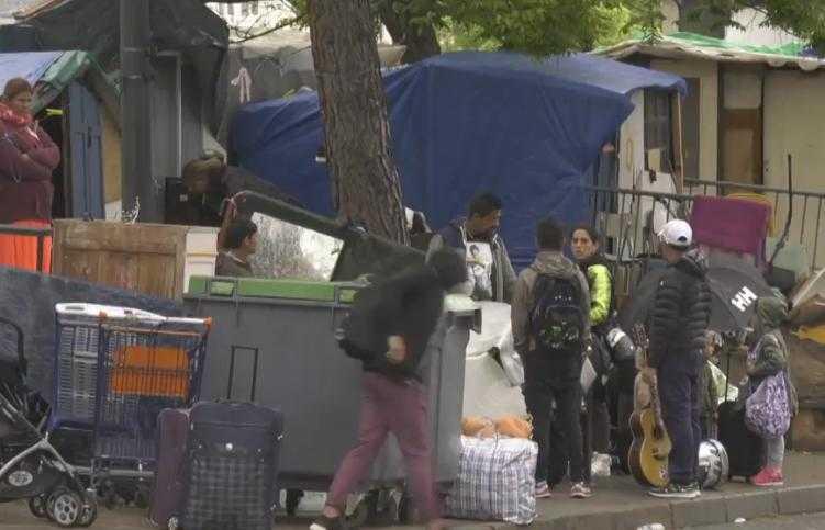 Démantèlement d'un bidonville au coeur de Toulouse