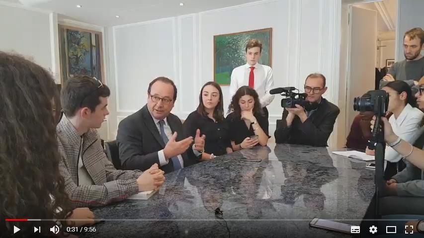L'échange entre François Hollande et des Lycéens toulousains donne lieu à un exercice pratique
