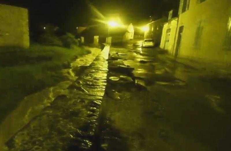 Hautes Pyrénées, de violentes pluies provoquent un torrent de Boue à Beaudéan dans la vallée de Campan