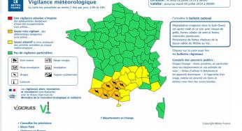 Orages violents, Toulouse et la Haute Garonne en alerte orange