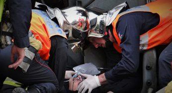 Un motard en urgence absolue après un accident au sud de Toulouse