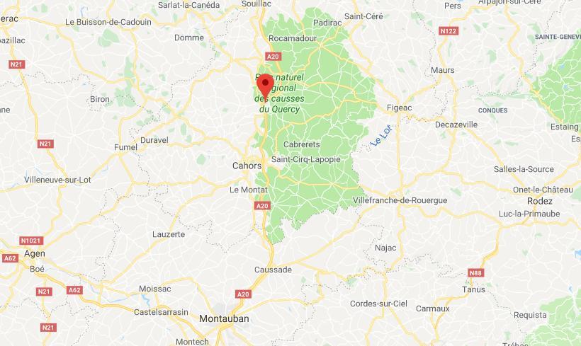 Grave accident de la route à Lamothe-Cassel au nord de Cahors