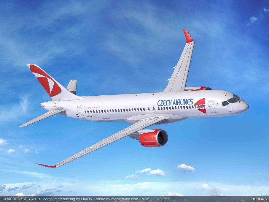 Czech Airlines commande 4 Airbus A220