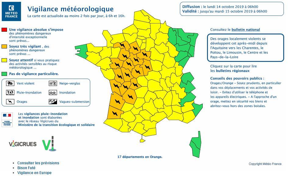 Toulouse et deux tiers de la France en alerte aux orages