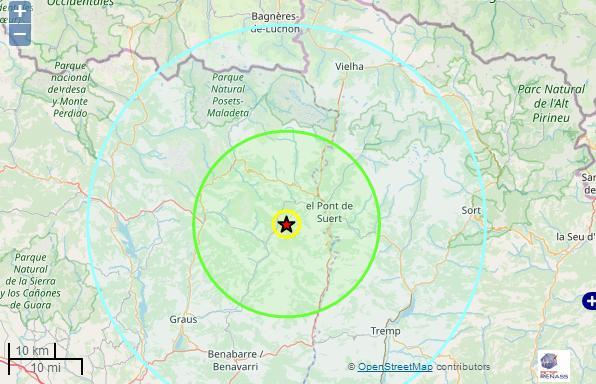 Nouveau tremblement de terre dans les Pyrénées