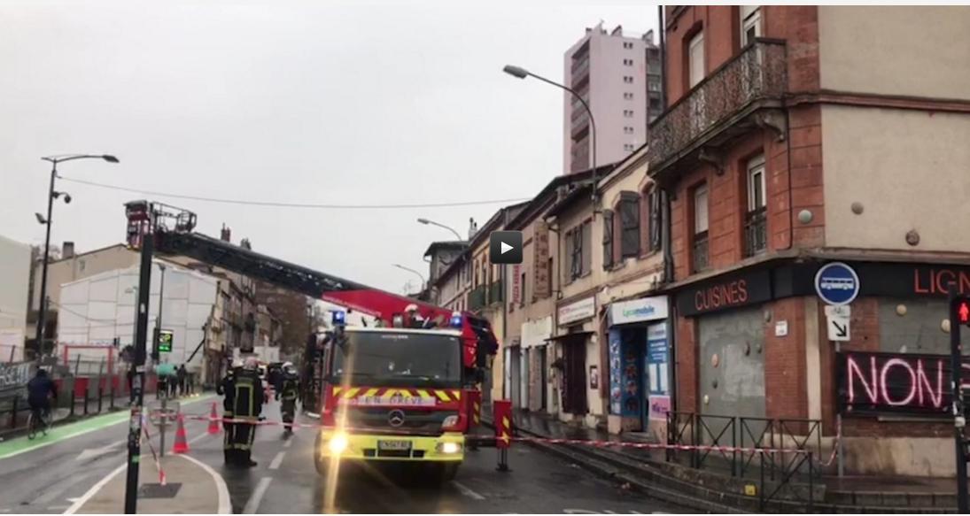 Important Incendie en plein centre de Toulouse