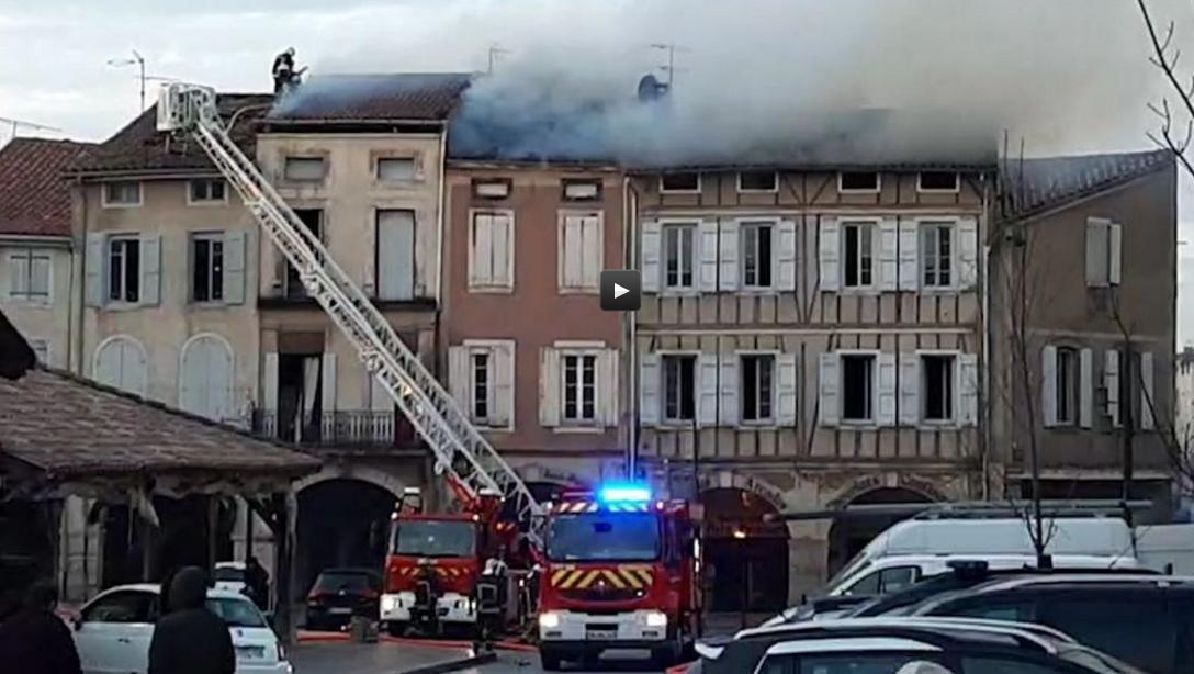 Incendie dans une boulangerie à Revel