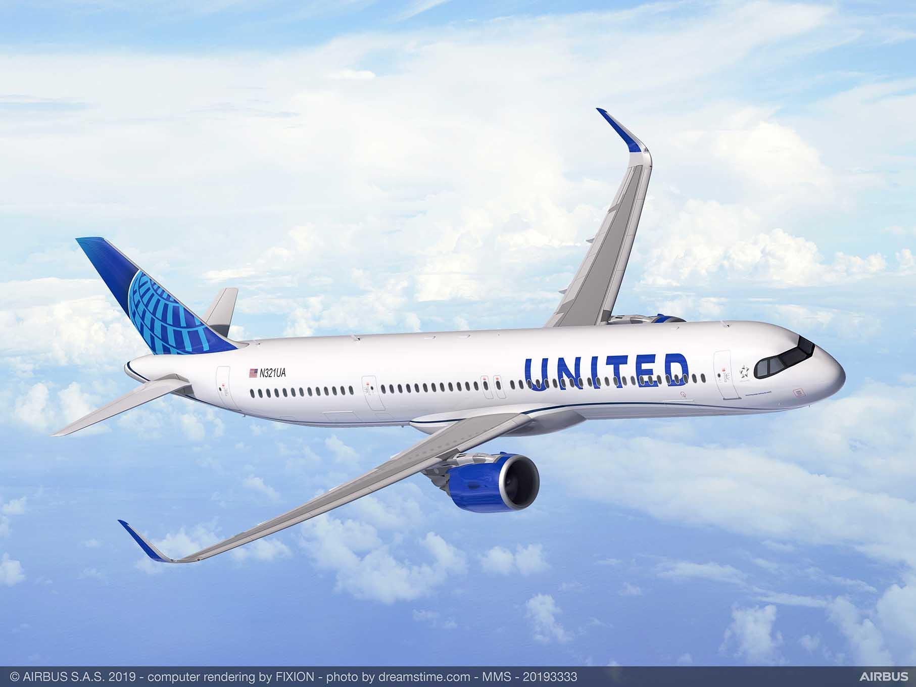 United Airlines commande 50 Airbus A321