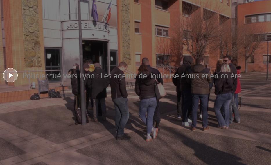 Les policiers Toulousains ont rendu hommage au policier mort à Lyon