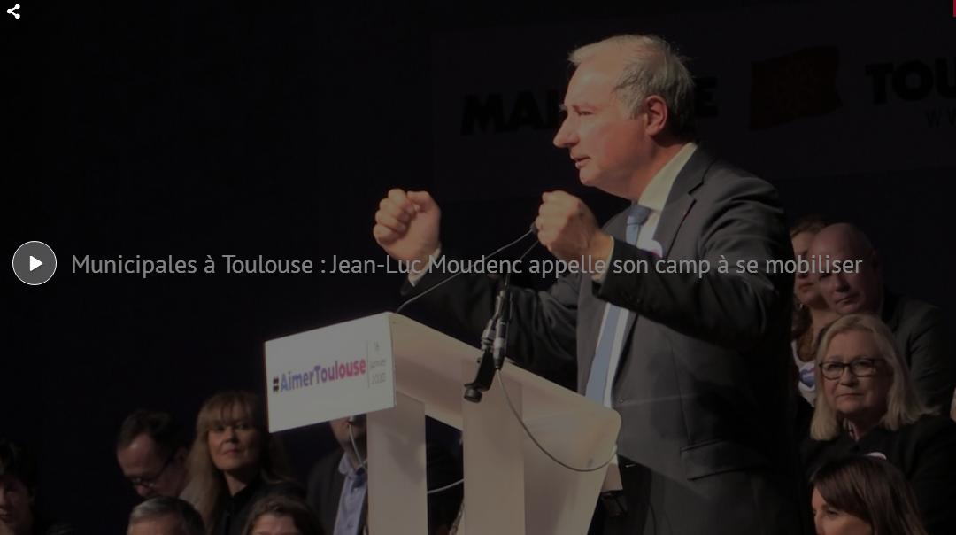 Moudenc campagne municipales Toulouse 2020