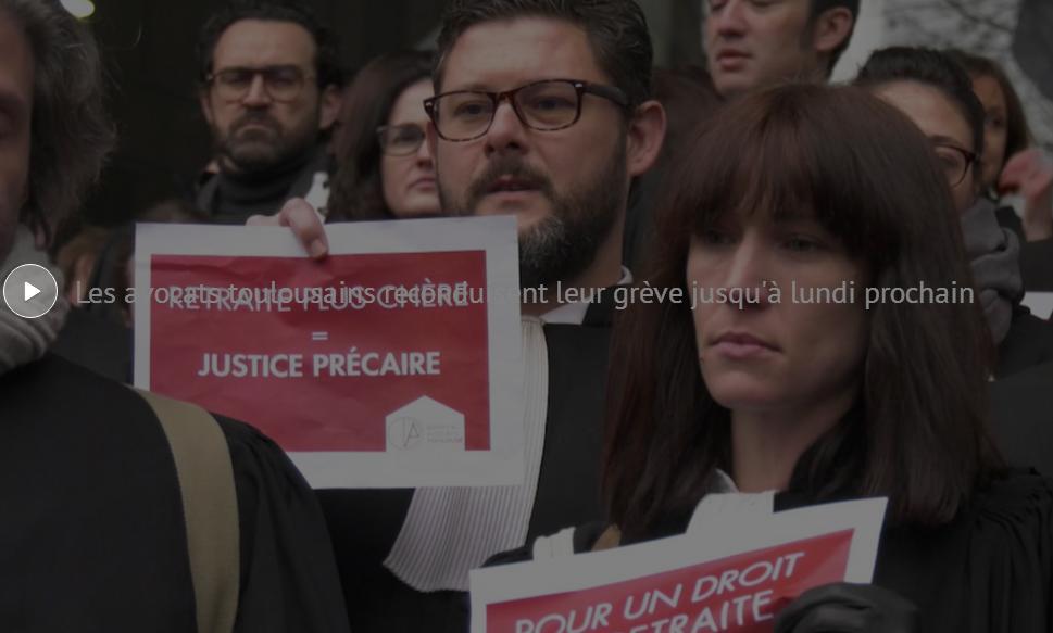 Retraites, les avocats toulousains prolongent la grève