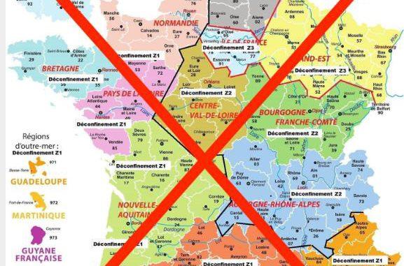 Carte du Déconfinement par départements, un faux alerte la Gendarmerie