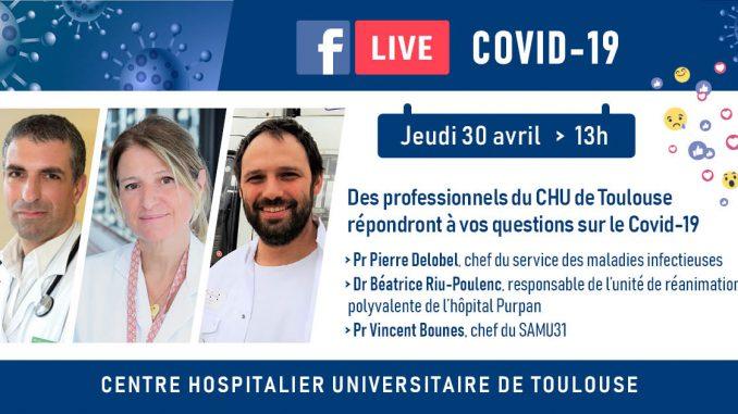 Facebook live des hôpitaux de Toulouse sur le Coronavirus