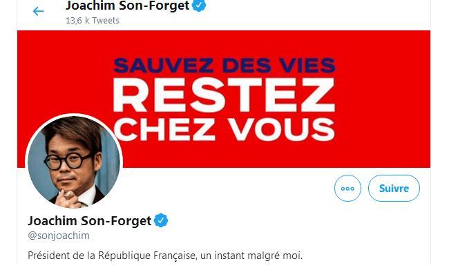 Joachim Son-Forget a usurpé l'identité d'Emmanuel Macron sur Twitter
