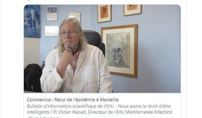 Le Professeur Raoult annonce une possible fin de l'épidémie de Coronavirus