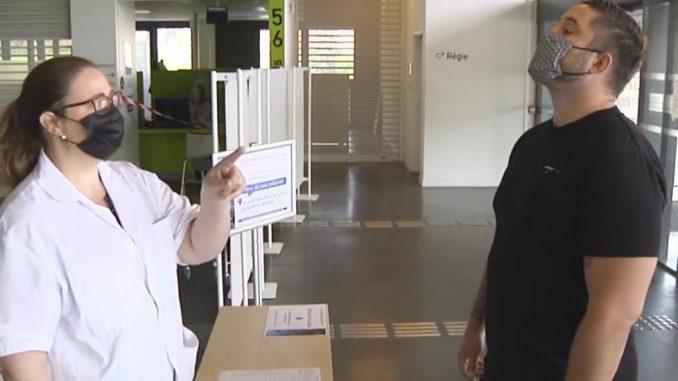 De retour à l'hôpital Cyril Baille a testé les règles d'hygiène à respecter