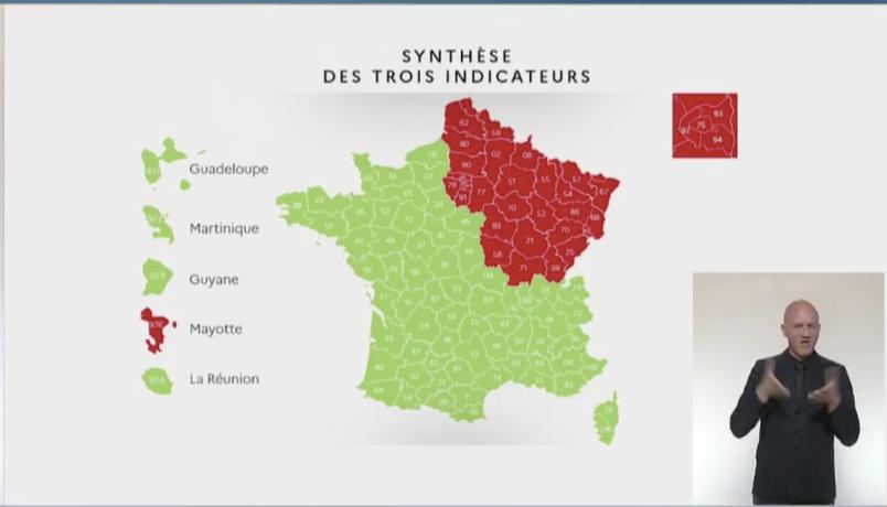 France déconfinement rouge vert