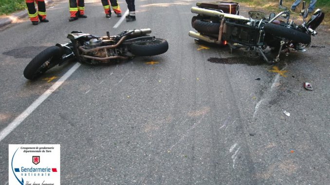 3 accidents de la route grave sur les routes du Tarn
