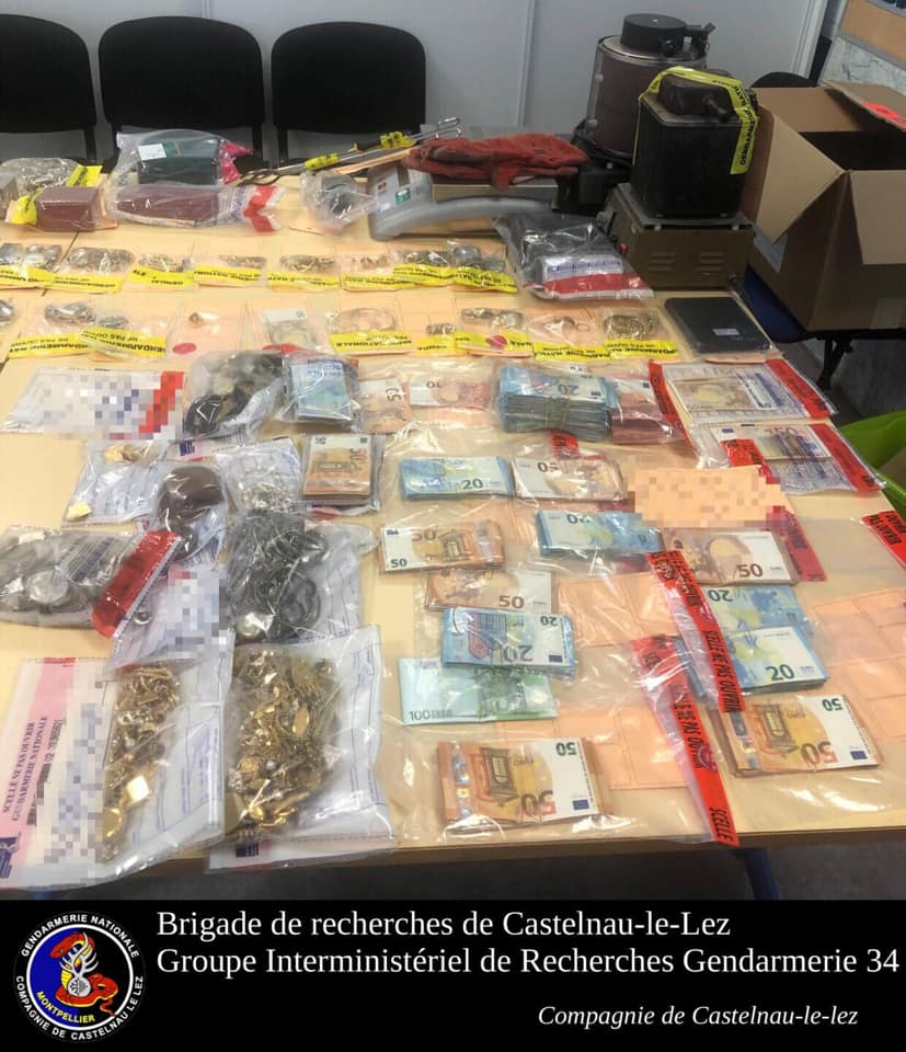Occitanie. Coup de filet dans le trafic d'or, des centaines de milliers d'euros saisis