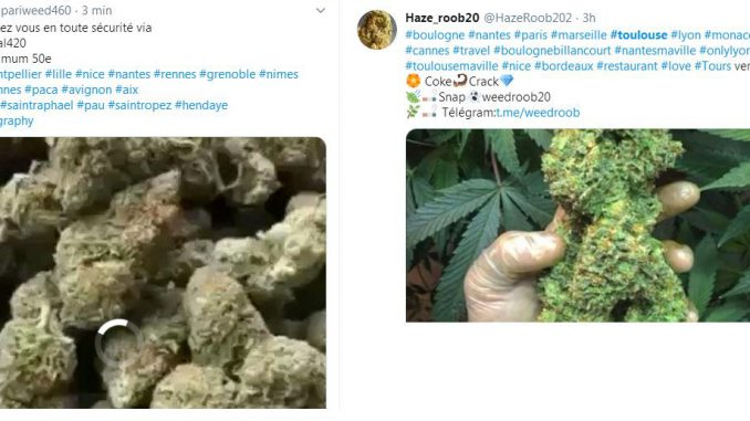 Twitter #Toulouse le supermarché de la drogue