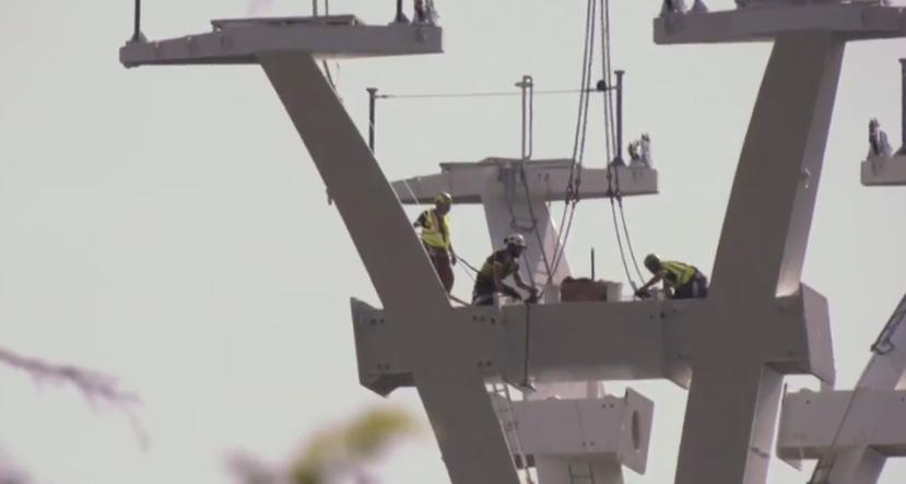 Toulouse, le premier pylône du téléphérique est sorti de terre