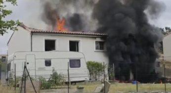 Labrugière Tarn. un violent incendie détruit une maison