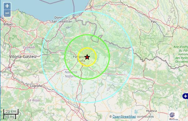 Tremblement de Terre au sud des Pyrénées