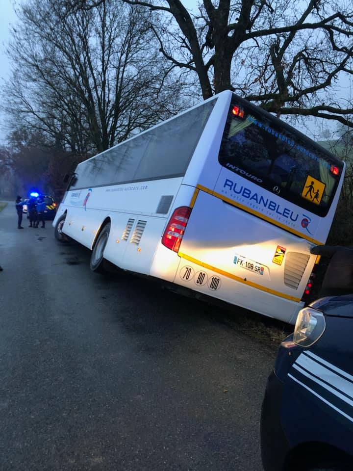 Tarn. grosse frayeur des élèves après un accident de bus