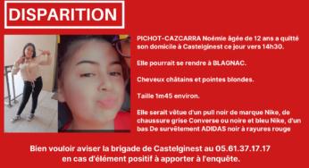 Toulouse disparition inquiétante d'une adolescente de 12 ans
