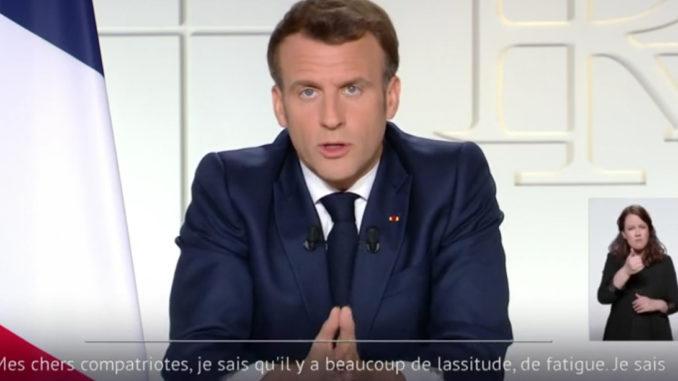 Vaccins 3e confinement Emmanuel Macron